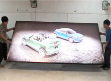 广州市金丽阳光电科技有限公司拉布灯箱LED背光灯箱工厂组装