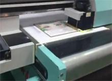 绘迪酷美UVF2512板卷一体机打印瓦楞纸板